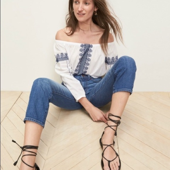 Madewell Tops - Madewell Medal Folktale Off the Shoulder Top